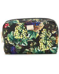 Dolce & Gabbana Grape Print Make-up Bag - Green