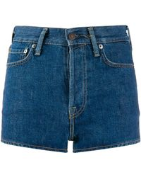 Acne Studios - High Waisted Denim Shorts - Lyst