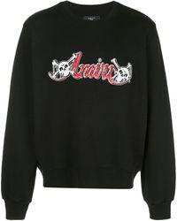 Amiri ロゴ スウェットシャツ - ブラック