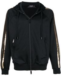 DSquared² - Sequin Striped Zip-up Hoodie - Lyst