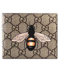 babb6e9d6106 Gucci Genuine Leather Wallet Credit Card Bifold gg Supreme for Men ...