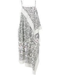 Christian Wijnants - Dajima Floral-print Asymmetric Midi Dress - Lyst