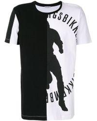 Dirk Bikkembergs - Asymmetric Print T-shirt - Lyst