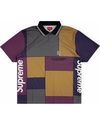 Supreme Colourblock Soccer Polo Shirt - Purple