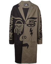 Haculla 2faced Two-tone Coat - Green