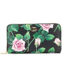 Dolce & Gabbana - Portefeuille à fleurs - Lyst