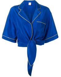 Pinko Укороченная Рубашка Preppy In Pink - Синий