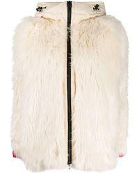 3 MONCLER GRENOBLE Jacke aus Faux Fur - Weiß