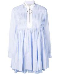 Cedric Charlier Robe-chemise courte évasée