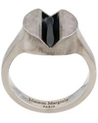 Maison Margiela Ring mit Kontrastdetail - Mettallic