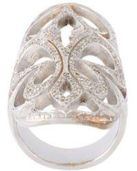 Loree Rodkin - Xl Cigar Band Diamond Ring - Lyst