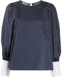 Edward Achour Paris Striped Print Blouse - Blue