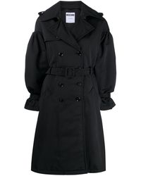 Moschino Double-breasted Belted Coat - Black