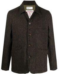 Universal Works Tweed Single-breasted Jacket - Green