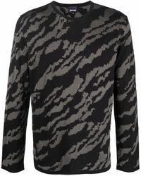Just Cavalli Jacquard Animal-pattern Sweater - Black