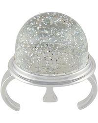MM6 by Maison Martin Margiela - Round Sparkly Ring - Lyst