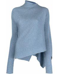 Marques'Almeida Jersey asimétrico - Azul
