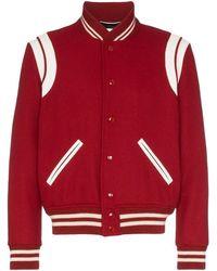 Saint Laurent Teddy Varsity Jacket - Multicolor