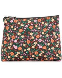 Ganni Floral Print Make Up Bag - Multicolor