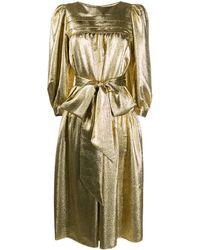 Marc Jacobs Платье С Пышными Рукавами И Эффектом Металлик