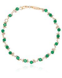 Suzanne Kalan エメラルド&ダイヤモンド ブレスレット 18kイエローゴールド - マルチカラー