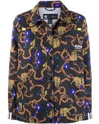 adidas Chain-link Pattern Shirt - Black