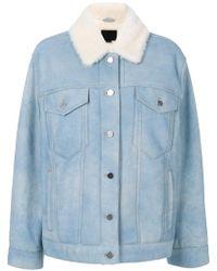 Alexander Wang | Oversized Shearling Jacket | Lyst