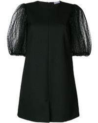 RED Valentino - Puff Sleeve Mini Dress - Lyst
