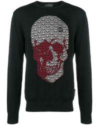 Philipp Plein - Pp Logo Skull Sweater - Lyst