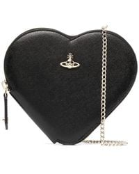 Vivienne Westwood New Heart Crossbody Clutch Bag - Black