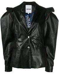 Koche クロコダイルパターン ジャケット - ブラック