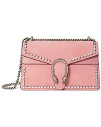 c992ed5b221b Gucci Dionysus Gg Supreme Shoulder Bag With Crystals - Lyst