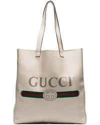 Gucci Сумка-тоут С Логотипом - Многоцветный