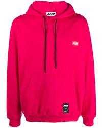 MSGM Худи С Нашивкой-логотипом - Розовый