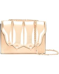 Marco De Vincenzo Quilted paw flap crossbody bag - Multicolore