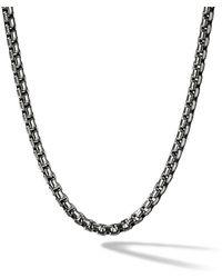 David Yurman - Box Chain Medium Necklace - Lyst