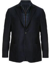 Corneliani Detachable Lined Blazer - Blue