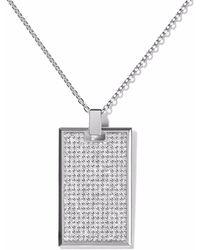 AS29 - ダイヤモンド タグネックレス 18kホワイトゴールド - Lyst