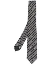 Givenchy Krawatte mit diagonalem Muster - Schwarz