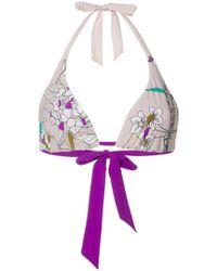 Carine Gilson - Floral Soft Triangle Bikini Top - Lyst