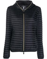 Save The Duck Padded Zip-up Jacket - Black