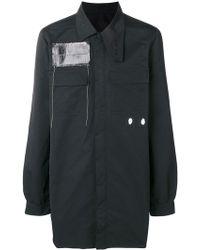 Rick Owens Drkshdw - Oversized Patch-detail Shirt - Lyst