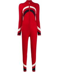 Perfect Moment Knitted Ski Suit - Red
