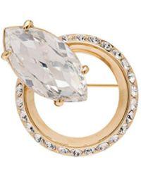 Miu Miu Broche New Crystal Jewels - Metálico