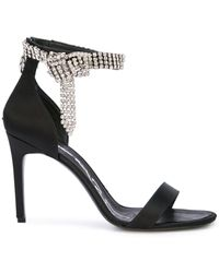 Oscar de la Renta Open Toe Sandals - Black