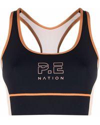 P.E Nation ロゴ スポーツブラ - ブラック