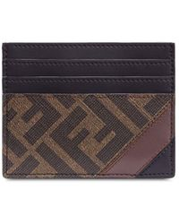 Fendi Ff Motif Cardholder - Brown