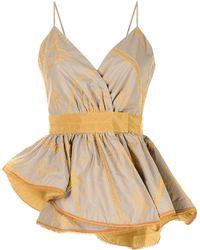 Silvia Tcherassi Ruffled Wrap-design Dress - Multicolour