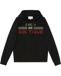 Gucci Худи С Принтом Boutique - Черный