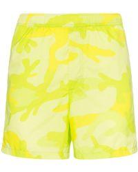 Valentino - Camouflage-print Swim Shorts - Lyst